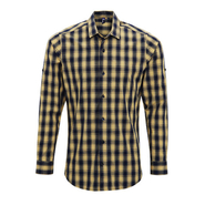 Men`s Mulligan Check Cotton Long Sleeve Shirt