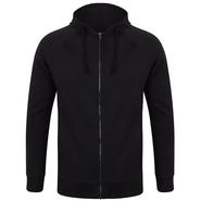 Unisex slim fit zip-through hoody