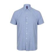 Men`s Gingham Cofrex/Pufy Wicking Short Sleeve Shirt