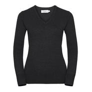 Suéter de punto con cuello en V para mujer