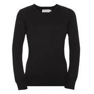 Suéter de punto con cuello redondo para mujer
