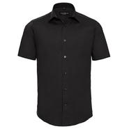 Camisa elástica entallada de manga corta para hombre