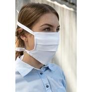 Maschera per bocca e naso (bottone verde, cotone certificato Fairtrade, cotone biologico)