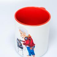 Subli Mug Two Tone pink 11 oz (12 pcs)