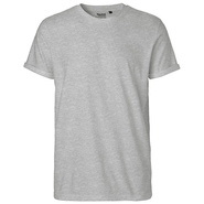 Camiseta de manga enrollada para hombre
