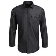 Camicia in denim con cuciture jeans da uomo