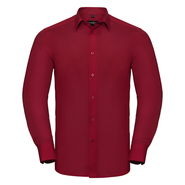 Men`s Long Sleeve Tailored Polycotton Poplin Shirt