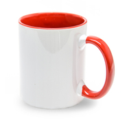 12er cardboard cup inside handle red, 11oz, Grade A