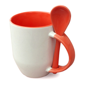 12er cardboard cup and spoon inside handle red, degrees