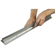 Aluminium safety cutting ruler 1,25m