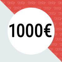 YOW! Einkaufsgutschein im Wert von 1000 EUR