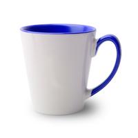 36er Karton Tasse konisch innen Griff blau, A