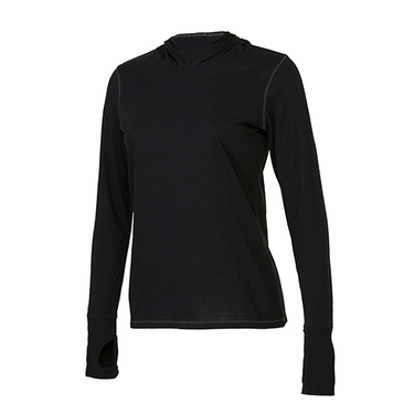 Women´s Performance Triblend Long Sleeve Hooded Pullover With Runner´s Thumb