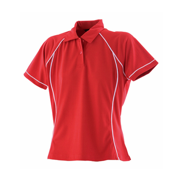 Ladies Piped Performance Polo