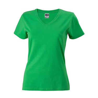 Ladies` Slim Fit V-T