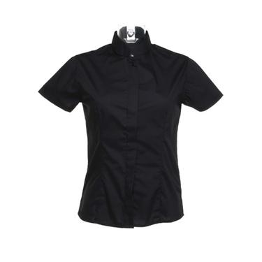 Women´s Bar Shirt Mandarin Collar Shortsleeve
