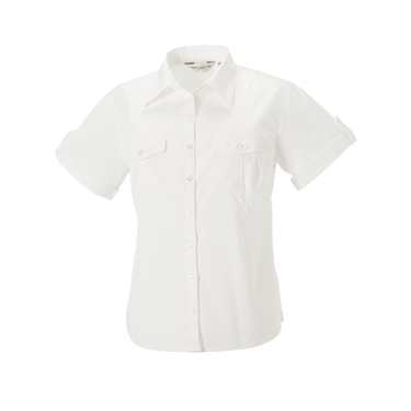 Ladies´ Roll Short Sleeve Twill Shirt