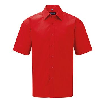 Men´s Short Sleeve Polycotton Poplin Shirt