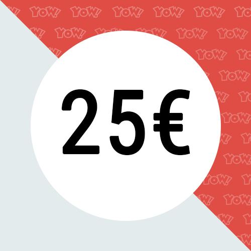 YOW! Shopping voucher worth 25 EUR