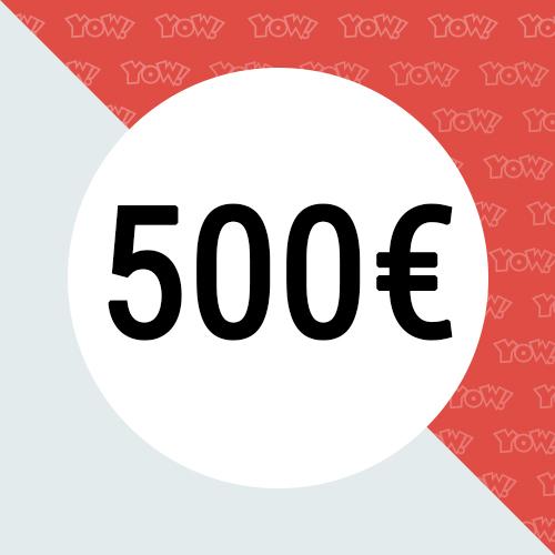 YOW! Shopping voucher worth 500 EUR