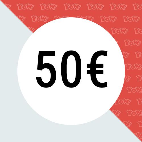 YOW! Shopping voucher worth 50 EUR