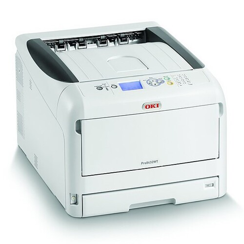 OKI Pro8432WT Weißtoner-Drucker A3 + TransferRIP Software