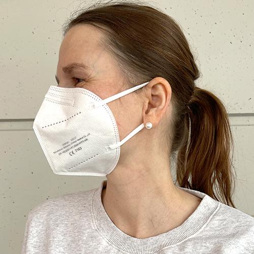 FFP2 mask model: Markus, unprinted white (without exhalation valve)