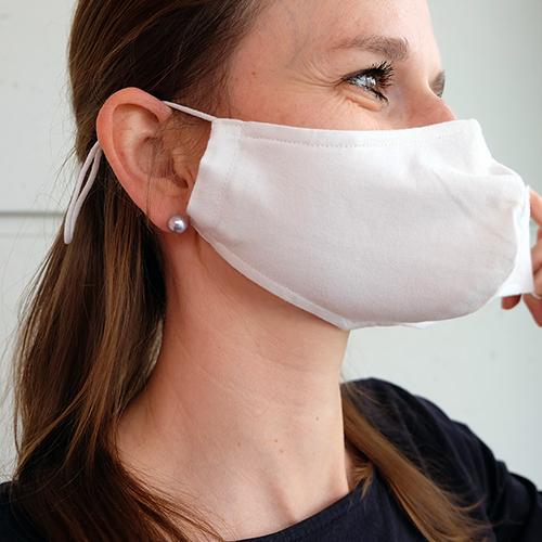 Fabric mask model: James, plain white