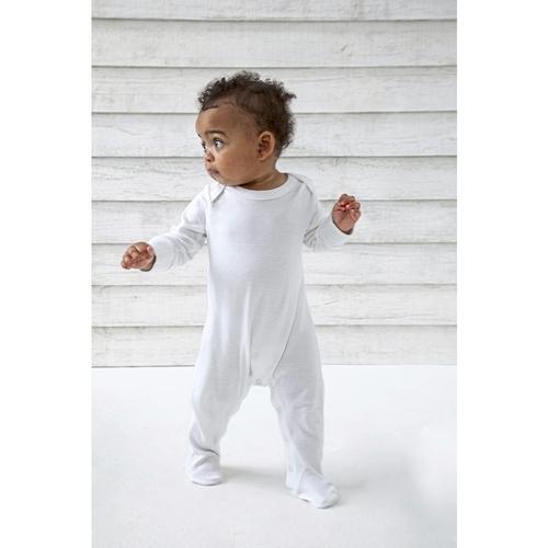 Maillot de nuit bio pour bébé avec moufles à rayures
