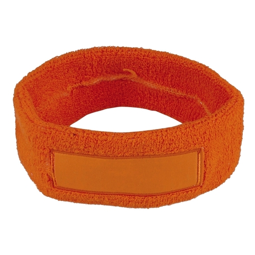 Sweatband with label
