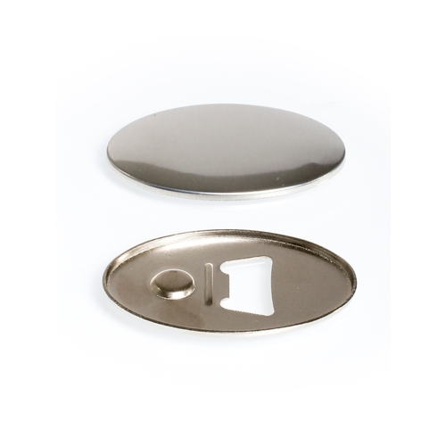 100 oval buttons 45mm x 69mm with bottle opener