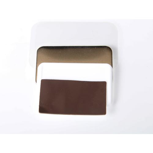 100 rechteckige magnetische Buttons 37mm x 58mm