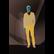 Golden Men V-Neck Knitted Cardigan
